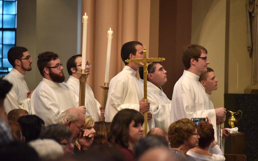 Seminarians Serve Last Mass of Bishop Hying at Holy Angels Cathedral